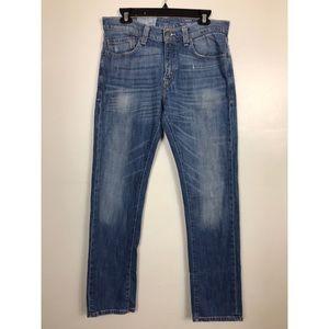Levis 511X Skinny Jeans Distressed Blue MediumWash
